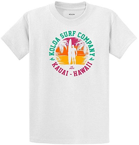 Koloa Surfers Silhouette Logo Heavyweight Cotton T-Shirt-White/c-M