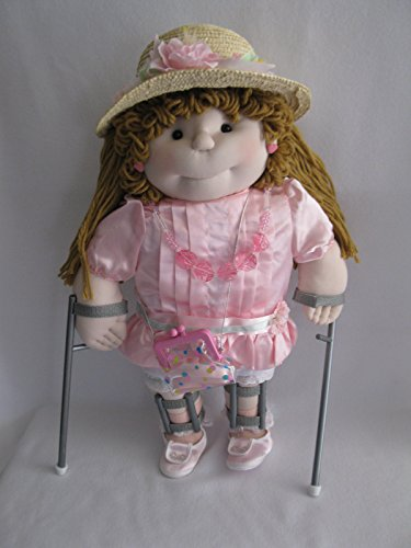 Mattel Hal's Pals Soft Sculpture 19 inch Disabled Girl Doll with Leg Braces and Crutches