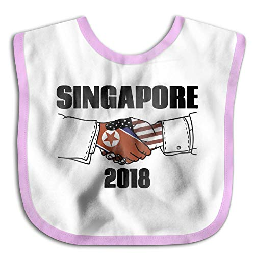 Baby Bandana Drool Bibs for Babies & Toddlers Soft, Unisex, Adorable,Perfect Baby Shower Gift Idea [Singapore Summer 2018 Pink]