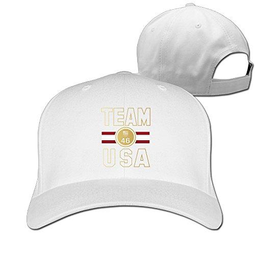 [Unisex Team USA Stripe Medal 46 Gold Medals Olympics Peaked Hat Baseball Cap] (Brazil Costume Male)