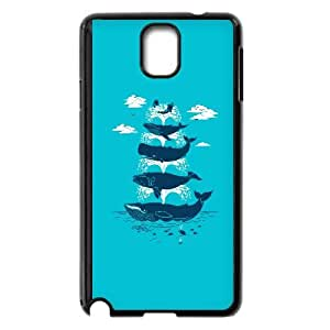 Samsung Galaxy Note 3 Cell Phone Case Black Whale of a Time uehj