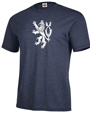 Got-Tee- Coat of arms of the Czech Republic T-Shirt Medium Denim - Of Coat Czech Arms
