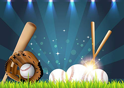 Baseball Backdrop for Photography 7x5ft Stadium Boys' Sports-Themed Birthday Party Background Photo Booth Studio Props -