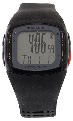 Soleus Unisex SH010-010 Pulse Rhythm Digital Display Quartz Black Watch