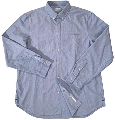 Club Monaco Men's Slim 3 Button Down Blue Oxford L/S Sport Shirt XL