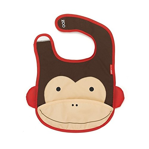 Skip Hop Zoo Little Kid and Toddler Tuck-Away Water Resistant Baby Bib, Multi Marshall (Monkey Toddler Bib)