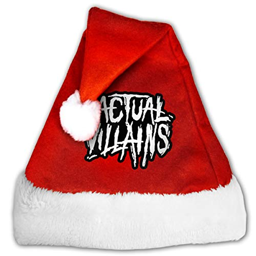 FQWEDY Actual Villains Unisex-Adult's Santa Hat, Velvet Christmas