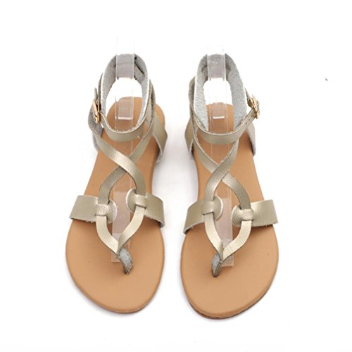 Flip Toepost Women Summer Smart 10 for Sandals Flat Personalised Embellished Shoes Gladiator Gold Flops Thin Size Cushioned Slingback Thong Lolittas 2 EWnwq7CS8