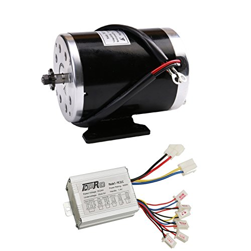 WPHMOTO 500W 24V DC Brushed Electric Motor with Controller Kit for e-Bike Scooter Go Kart Bicycle (E300 Scooter Best Price)