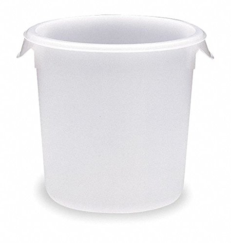 Round White Food (Rubbermaid Commercial Products FG572100WHT 4-Quart Round Storage Container)