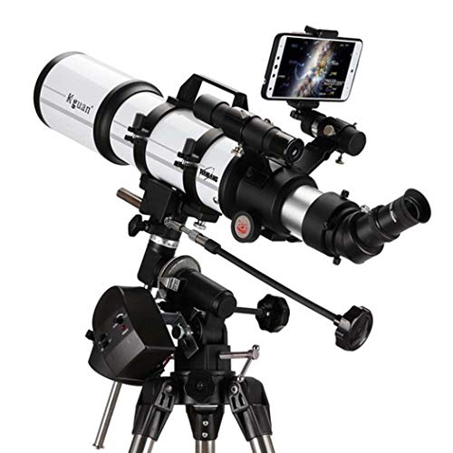 Professional Deep Space, Telescope for Kids Adults Astronomy Beginners, Refractor Telescope for Astronomy, Portable Travel Telescope with Tripod, Multi-Layer Green Film,80AZ