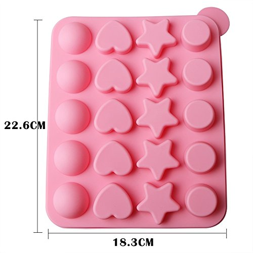 SuperStores 1PC 20 Holes Silicone Lollipops Mold Cake Chocolate Ice Lattice Bakeware Pop Mold Lollipop Party Cupcake Baking Mould