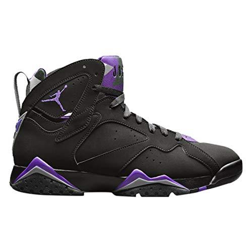 Jordan Nike Men's Air 7 Retro Ray Allen PE Black/Fierce Purple-Dark Steel Grey 304775-053 (Size: 11)