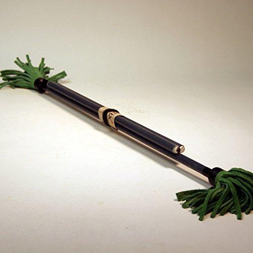 "Z-Stix Made to Order Handmade Juggling Sticks-Flower Sticks-Devil Sticks (King's Spear 30"",Black)"