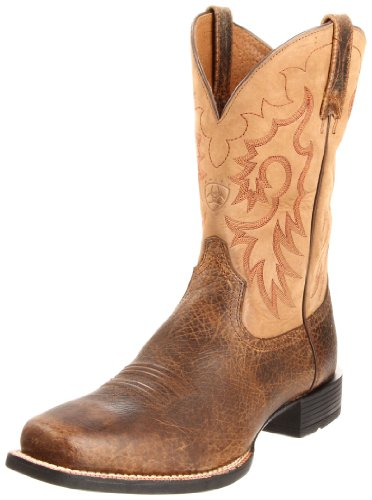 Ariat Men's Heritage Reinsman Western Cowboy Boot, Earth/Gate Post Brown, 9 M US