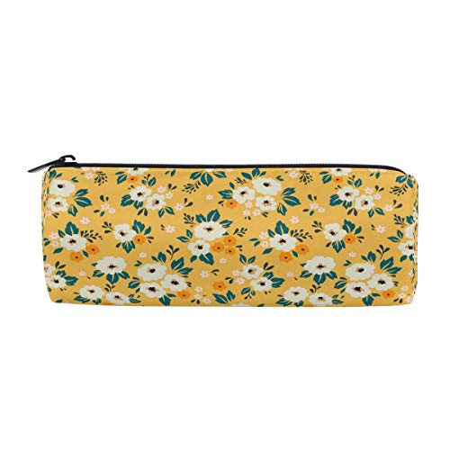 ALAZA Pencil Case Yellow Print Daisy Flower Pen Pencil Bag Z