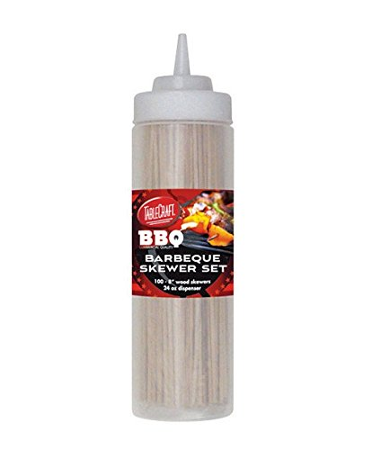 TableCraft's Barbeque Skewer Set, Includes: 24 oz Squeeze Bottle, 100 ea 8