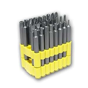 Juego de puntas de destornillador (32 piezas, tipo Torx, Pozidriv, Allen, Tri-Wing, de tuerca ranurada y Torq)