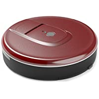 Robotic Vacuum Cleaner, Robot Sweeper for Pet Hair with Anti-Drop and Anti-Bump Sensor, Rechargeable Robot Vacuum for Pet Hair, Fur, Allergens, Thin Carpet, Hardwood and Tile Floors - Dark Red