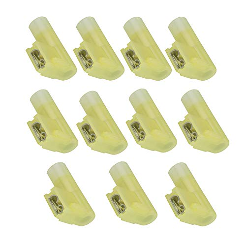 Wire Nylon Range - Lala Smill 20pcs Flag Crimp Terminals Right Angle Female Disconnect Nylon Fully Insulated Connector 12-10 Wire Range