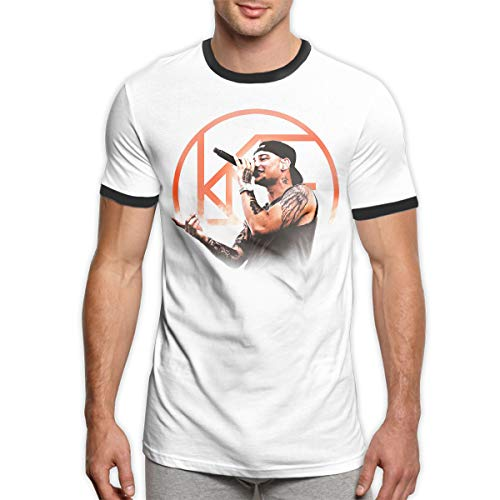 Kane Brown Logo Casualstylish Man Summer Tops Short Sleeve Ringer Tee Shirt Black L