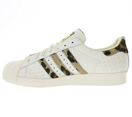 Adidas Originals SUPERSTAR 80s ANIMAL Scarpe Sneakers Bianco per Donna