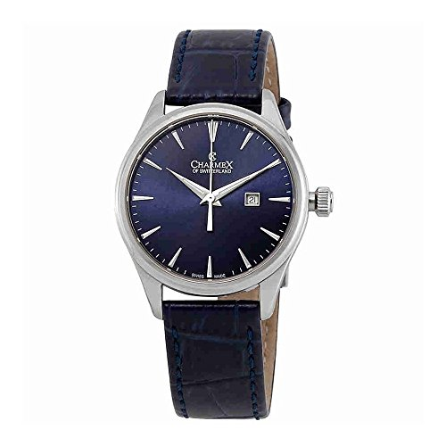 Charmex Blue Dial Blue Leather Ladies Watch 6388
