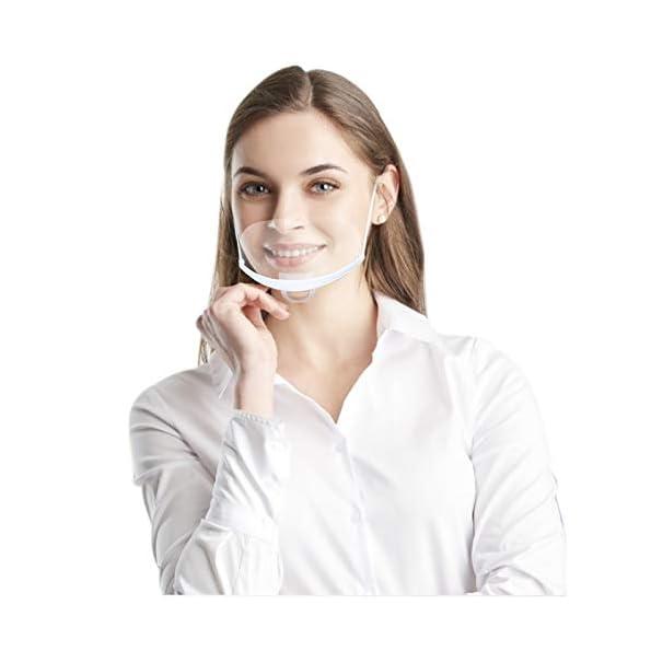10-Stck-Mund-Gesichtsschutz-aus-Kunststoff-Gesichtsschild-Schutzvisier-Schutzschild-Visier