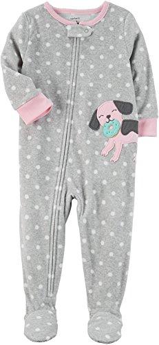 Carter's Baby Girls' 12M-24M One Piece Dog Fleece Pajamas 24 Months ()
