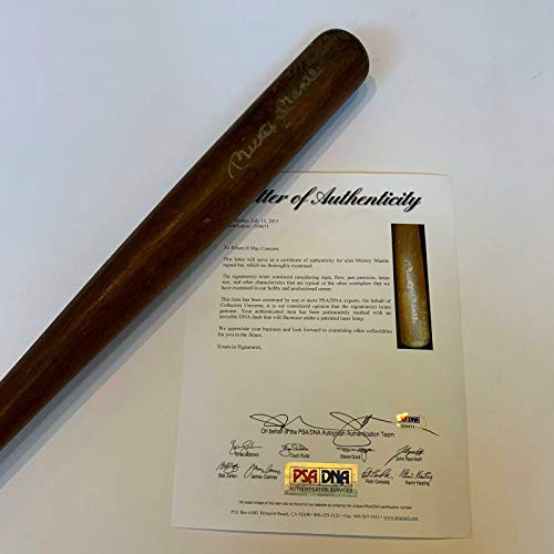 Vintage Mickey Mantle Signed Autographed Baseball Bat With COA Yankees - PSA/DNA Certified - MLB Autographed Game Used Bats