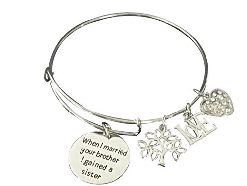 Infinity Collection Sister-in-Law Bracelet- Sister by Marriage Friends by Choice, Sister in Law Gifts, Sister in Law Jewelry (Best Birthday Gift For Sister In Law)
