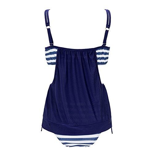 Leezeshaw - Conjunto - para mujer azul oscuro