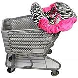 Shopping Cart Cover- Zebra/ Hot Pink