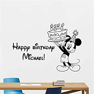 Mickey Minnie Mouse Wall Art Decal Sticker Mickey Mouse Tatuajes ...