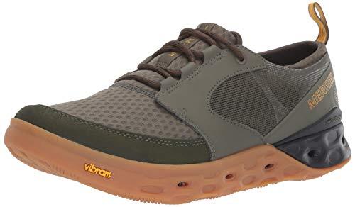 (Merrell Men's TIDERISER LACE Water Shoe, Olive, 15.0 M US)