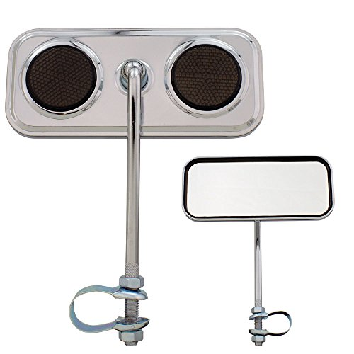 Cheap Fenix Round Mirror 3″ Chrome, Various Reflector Colors (Black Reflectors)