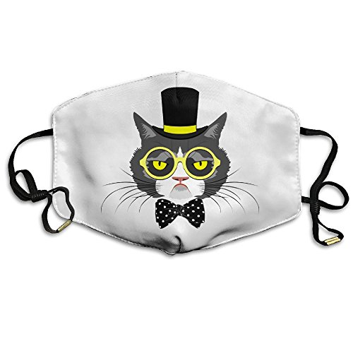 Price comparison product image TOCCC Magician Cats Unisex Allergy Flu Masks Face Masks Breathable Health Masks