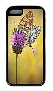 for ipod Touch 4 Case Butterfly Pad Animal TPU Custom for ipod Touch 4 Case Cover Black