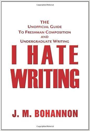 I Hate HATE HATE Writing?