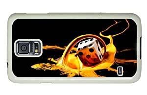 Hipster Samsung Galaxy S5 Case durable Dice Splash PC White for Samsung S5