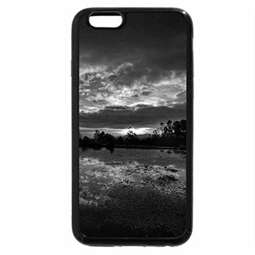 iPhone 6S Plus Case, iPhone 6 Plus Case (Black & White) - Beautiful sunset
