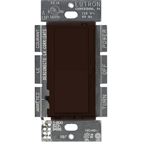 Lutron DVCL-253P-BR Diva 250-watt Single Pole/3-Way CFL/LED Dimmer, Brown