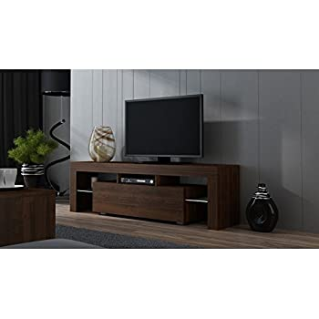 TV Stand MILANO 160 White Line Modern LED Cabinet Living Room Furniture Tv Console Fit For Up To 70 Flat Screens Capacity