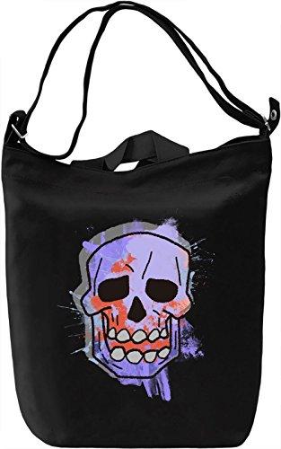 Colourful Skull Borsa Giornaliera Canvas Canvas Day Bag| 100% Premium Cotton Canvas| DTG Printing|
