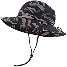 Anyoo Outdoor Boonie Hat Breathable Wide Brim Summer Sun Cap UV Protection Fishing Camouflage Hat for Men and Women,Waterproof for Hiking Camping Outdoor Adventures