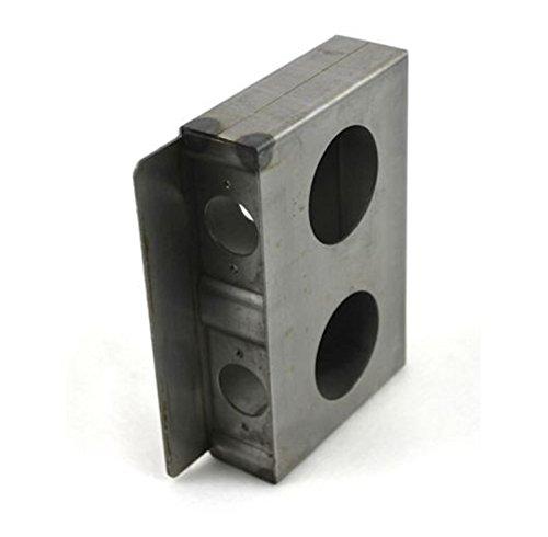(USA Premium Store Gate Lockbox Double Hole Weldable Steel 6 7/8