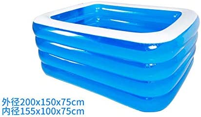 HEROTIGH Piscinas Hinchables De Gran Tamaño Parque Acuático Bebé Hogar Bebé Niño Inflable Grueso Adulto Familiar Piscina para Niños 2 M 4 Capas Inflatable Pool: Amazon.es: Hogar