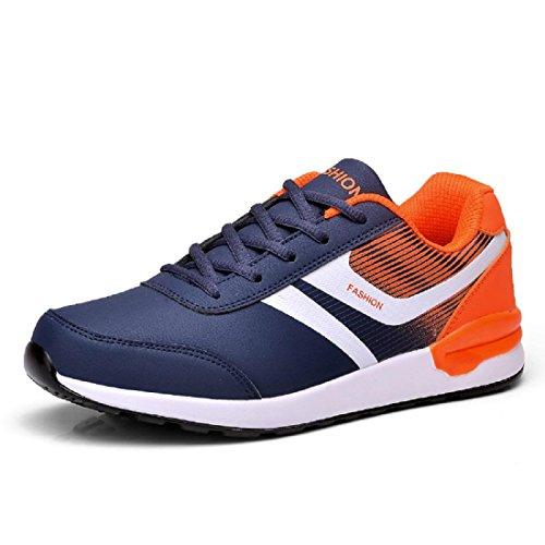Hombres Zapatos deportivos impermeable Zapatos de viaje Excursionismo Talla grande Entrenadores al aire libre Excursionismo black orange