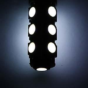 UZI- 13 5050 T10 SMD LED del coche 168 194 W5W de lámpara de la luz de la cuña del bulbo Blanco