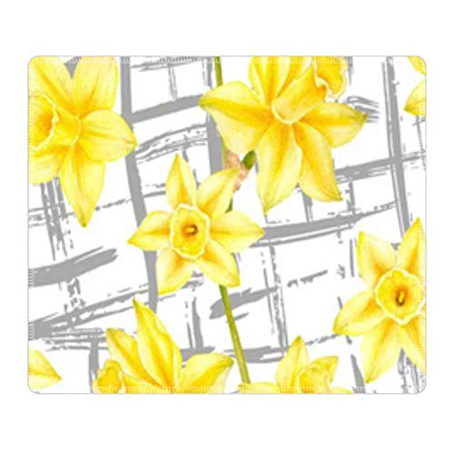 Mouse Pad Rectangle Mouse Pad Yellow Flower Wallpaper Series 320mm240mm3mm ()